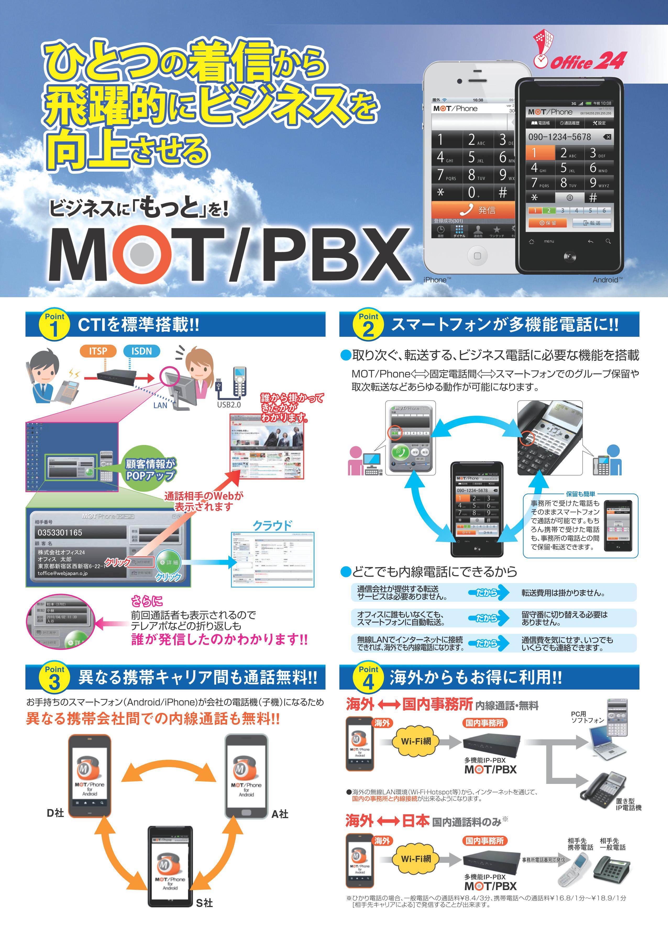 有限会社クイックシステム・MOT/PBXのご案内